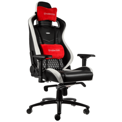 Ghế Noble Chair - Epic Series Black/Red/White (Real Leather)