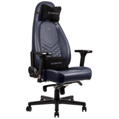 Ghế Noble Chair - Icon Series Midnight Blue/Graphite (Real Leather)