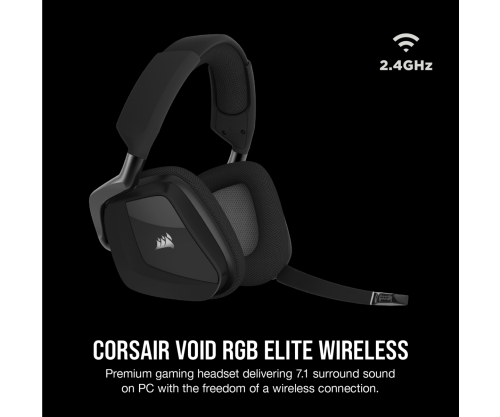 Tai nghe Corsair Void RGB Elite Wireless - Black