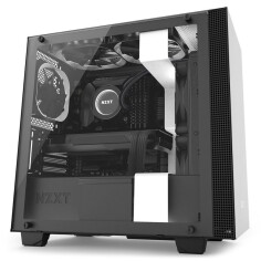 NZXT H400i SMART MATX CASE (MATTE WHITE/ BLACK)