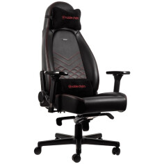 NOBLECHAIRS ICON SERIES - BLACK/RED